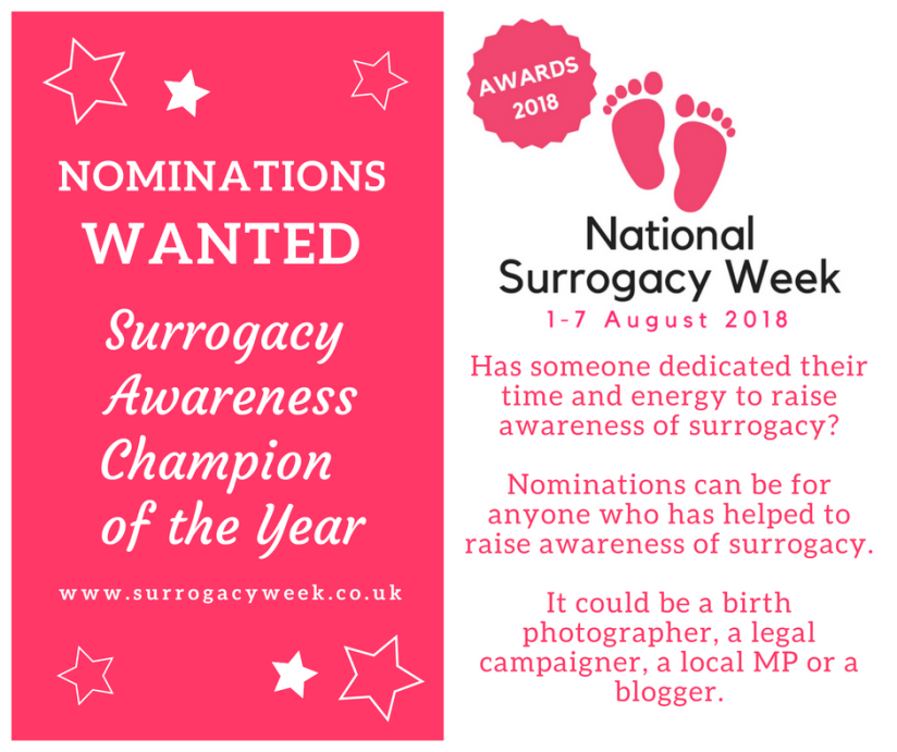 Surrogacy Awareness Champion of the Year